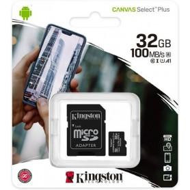 Card de memorie Kingston MicroSD, Canvas Select Plus, 32GB, Class 10 UHS-I, cu Adaptor  - 1