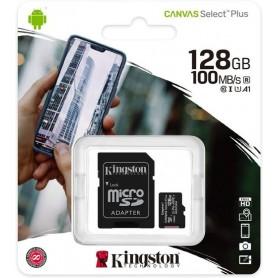 Card de memorie Kingston MicroSD, Canvas Select Plus, 128GB, Class 10 UHS-I, cu Adaptor  - 1