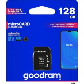 Card de memorie Goodram, MicroSD, 128GB, UHS-I cu Adaptor  - 1