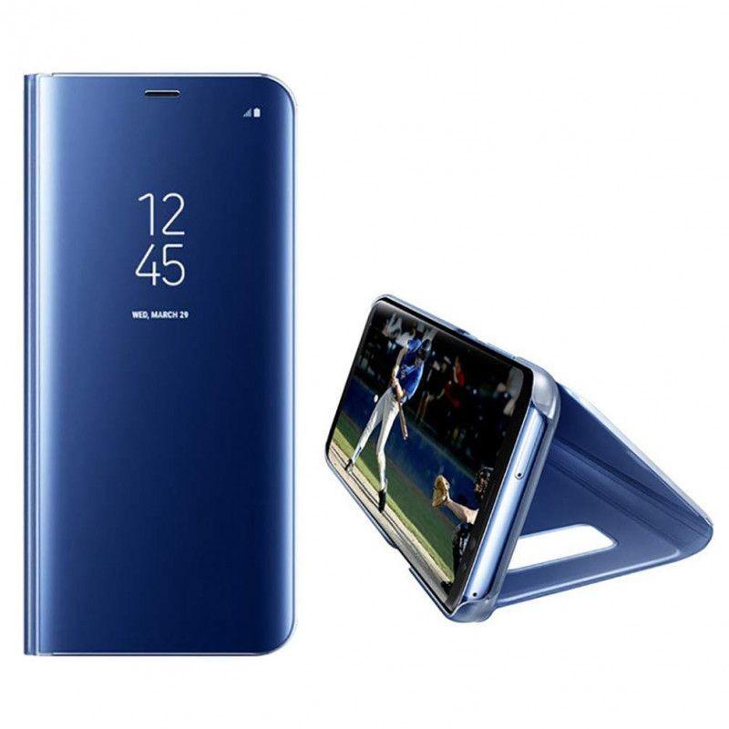 Husa Telefon Huawei P30 Pro Flip Mirror Stand Clear View  - 3