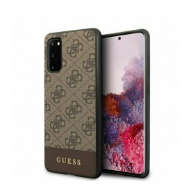 Husa Premium Originala Guess Samsung S20 ,colectia 4G Stripe, Maro Guess - 1