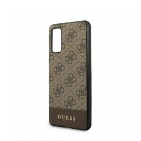 Husa Premium Originala Guess Samsung S20 ,colectia 4G Stripe, Maro Guess - 2