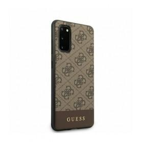 Husa Premium Originala Guess Samsung S20 ,colectia 4G Stripe, Maro Guess - 3