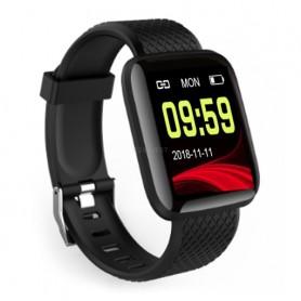 Smartwatch Bratara Ceas Fitness M116, Negru  - 1