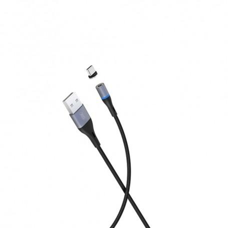 Cablu de date, magnetic, XO NB125 USB Type-C, 2A, 1m, Negru la pret imbatabile de 29,00lei , intra pe PrimeShop.ro.ro si convinge-te singur