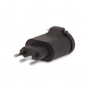 Incarcator Priza Retea, Forever TC-02, 2.4A Dual USB + cablu iPhone Lightning 20cm, Negru  - 4
