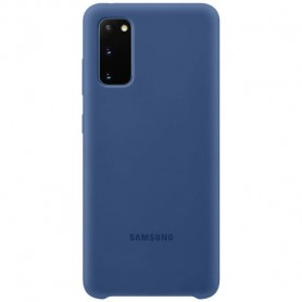 Husa Originala Samsung Galaxy S20, Silicon Navy Blue  - 1