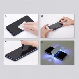 Folie Protectie Ecran din Sticla pentru Samsung Galaxy S20+ Plus, UV Glue 9H Cu Lampa Si Adeziv Lichid - Clear  - 2