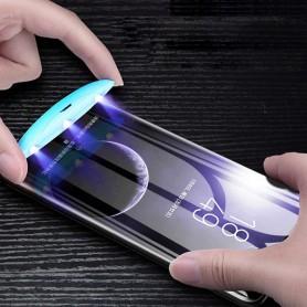 Folie Protectie Ecran din Sticla pentru Samsung Galaxy S20+ Plus, UV Glue 9H Cu Lampa Si Adeziv Lichid - Clear  - 3