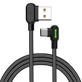 Cablu de date si incarcare USB Type-C 90 grade, extrarezistent, Mcdodo, Negru  - 1