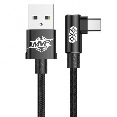 Cablu de date Baseus MVP Elbow USB Type-C, 1m, 2A, Negru la pret imbatabile de 36,99lei , intra pe PrimeShop.ro.ro si convinge-te singur