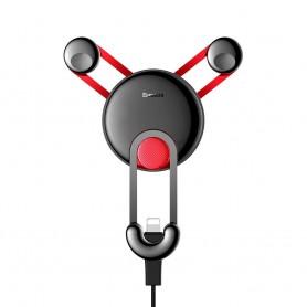 Suport auto Baseus YY Vent Mount + Cablu incarcare iPhone Lightning