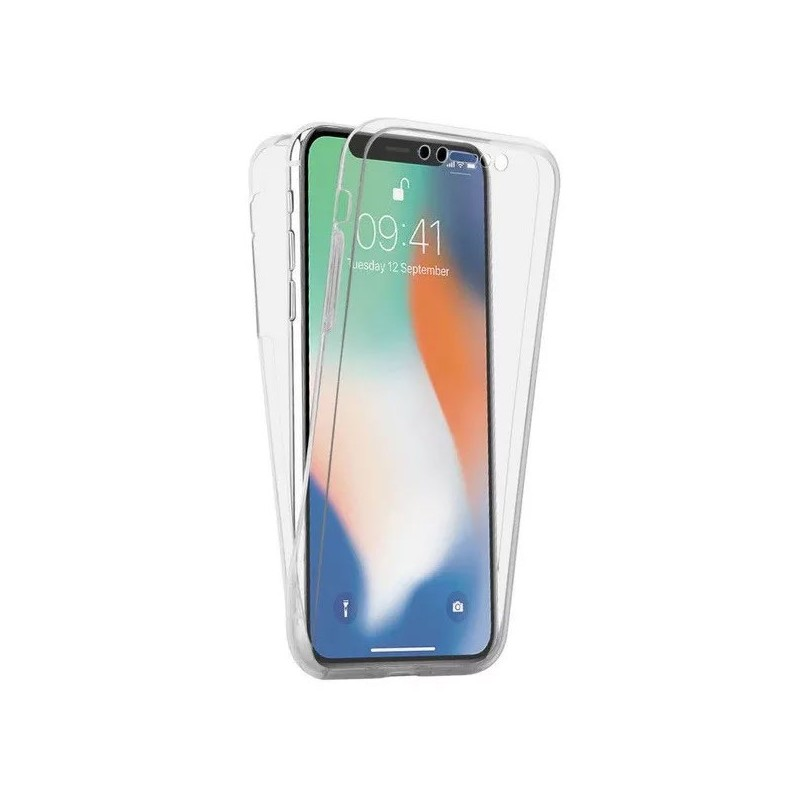 Husa iPhone 12 Mini (5.4 inch.) - Silicon Tpu Full 360 ( Fata+Spate) , transparenta  - 1