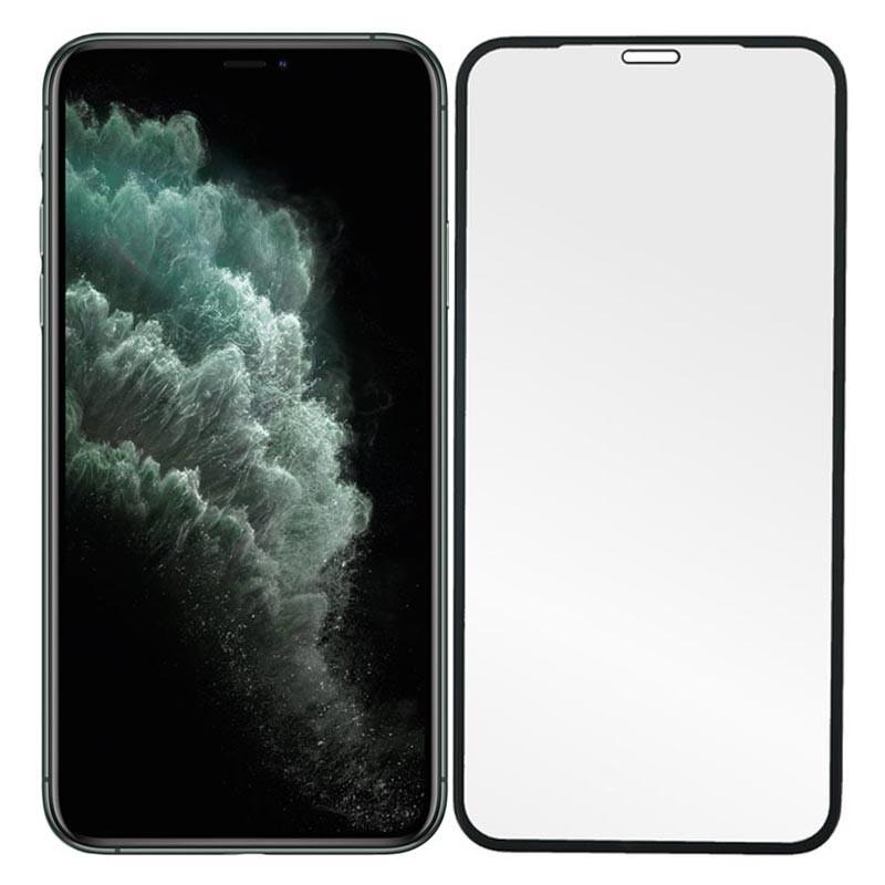 Folie Protectie Ecran pentru iPhone 12 / iPhone 12 Pro - (6,1 inchi) , Sticla securizata, Neagra  - 1
