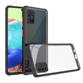 Husa Tpu Defender Hybrid pentru Samsung Galaxy A21s, Neagra  - 1