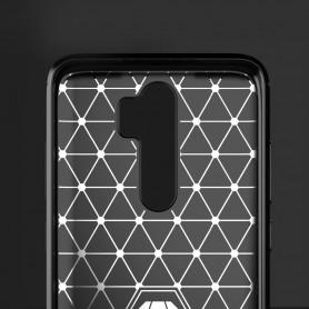 Husa Tpu Carbon Fibre pentru Xiaomi Redmi 9, Neagra  - 3