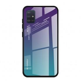 Husa Samsung Galaxy A51 - Gradient Glass, Albastru inchis cu Albastru deschis  - 1