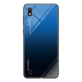 Husa Samsung Galaxy A10 - Gradient Glass, Albastru cu Negru  - 1