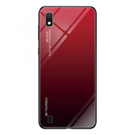 Husa Samsung Galaxy A10 - Gradient Glass, Negru cu Rosu la pret imbatabile de 38,99lei , intra pe PrimeShop.ro.ro si convinge-te singur