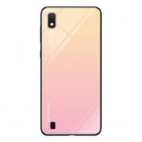 Husa Samsung Galaxy A10 - Gradient Glass, Roz cu Crem  - 1