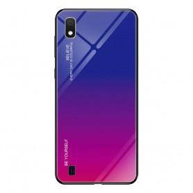 Husa Samsung Galaxy A10 - Gradient Glass, Albastru cu Violet  - 1