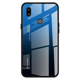 Husa Samsung Galaxy A20e - Gradient Glass, Albastru cu Negru  - 1