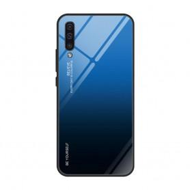 Husa Samsung Galaxy A30s / A50 / A50s - Gradient Glass, Albastru cu Negru  - 1