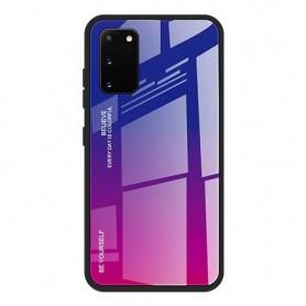 Husa Samsung Galaxy A41 - Gradient Glass, Albastru cu Violet  - 1