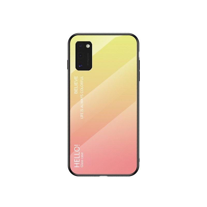 Husa Samsung Galaxy A41 - Gradient Glass, Roz cu Crem  - 1