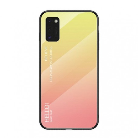 Husa Samsung Galaxy A41 - Gradient Glass, Roz cu Crem la pret imbatabile de 38,90lei , intra pe PrimeShop.ro.ro si convinge-te singur