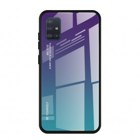 Husa Samsung Galaxy A41 - Gradient Glass, Albastru inchis cu Albastru deschis  - 1