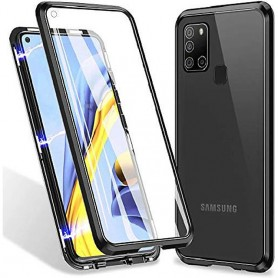 Husa Magnetica 360 cu sticla fata spate, pentru Samsung Galaxy A21s  - 1