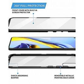Husa Magnetica 360 cu sticla fata spate, pentru Samsung Galaxy A21s  - 3