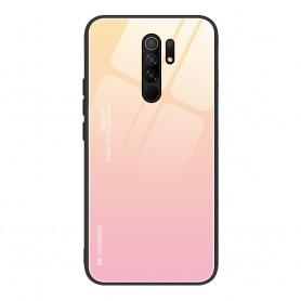 Husa Xiaomi Redmi 9 - Gradient Glass, Roz cu Crem  - 1