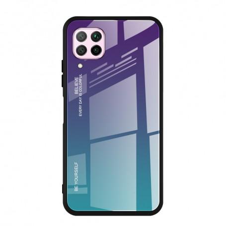 Husa Huawei P40 Lite - Gradient Glass, Albastru inchis cu Albastru deschis la pret imbatabile de 49,00lei , intra pe PrimeShop.ro.ro si convinge-te singur