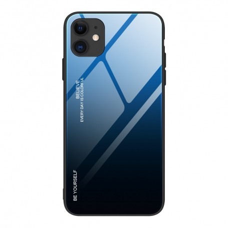 Husa iPhone 12 Mini - Gradient Glass, Albastru cu Negru la pret imbatabile de 49,00lei , intra pe PrimeShop.ro.ro si convinge-te singur
