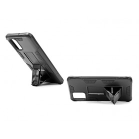 Husa Samsung Galaxy A41 - Tpu Hybrid Stand, Neagra  - 2