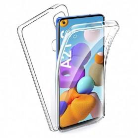 Husa Samsung Galaxy A21s - FullCover 360 (Fata + Spate), transparenta  - 1