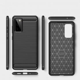 Husa Tpu Carbon Fibre pentru Samsung Galaxy S20 FE / Galaxy S20 FE 5G, Neagra  - 3