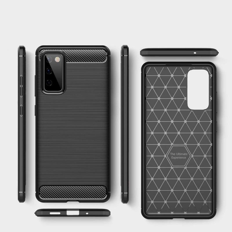 Husa Tpu Carbon Fibre pentru Samsung Galaxy S20 FE / Galaxy S20 FE 5G, Neagra - 2