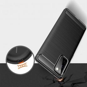 Husa Tpu Carbon Fibre pentru Samsung Galaxy S20 FE / Galaxy S20 FE 5G, Neagra  - 4