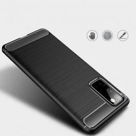Husa Tpu Carbon Fibre pentru Samsung Galaxy S20 FE / Galaxy S20 FE 5G, Neagra  - 5