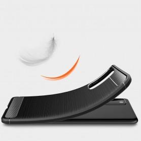 Husa Tpu Carbon Fibre pentru Samsung Galaxy S20 FE / Galaxy S20 FE 5G, Neagra  - 6
