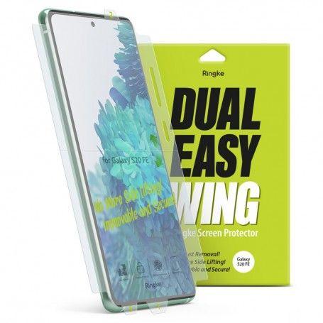 Folie Premium Full Cover Ringke Dual Easy Samsung Galaxy S20 FE / Galaxy S20 FE 5G, transparenta, 2 Bucati In Pachet la pret imbatabile de 55,90lei , intra pe PrimeShop.ro.ro si convinge-te singur