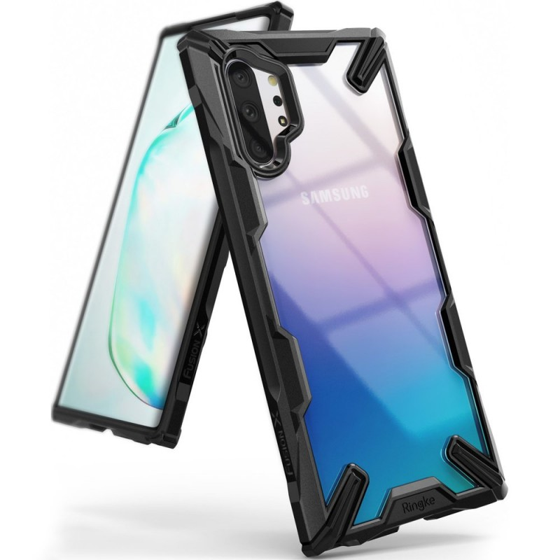 Husa pentru Samsung Galaxy Note 10 Plus, Ringke Fusion X, Neagra