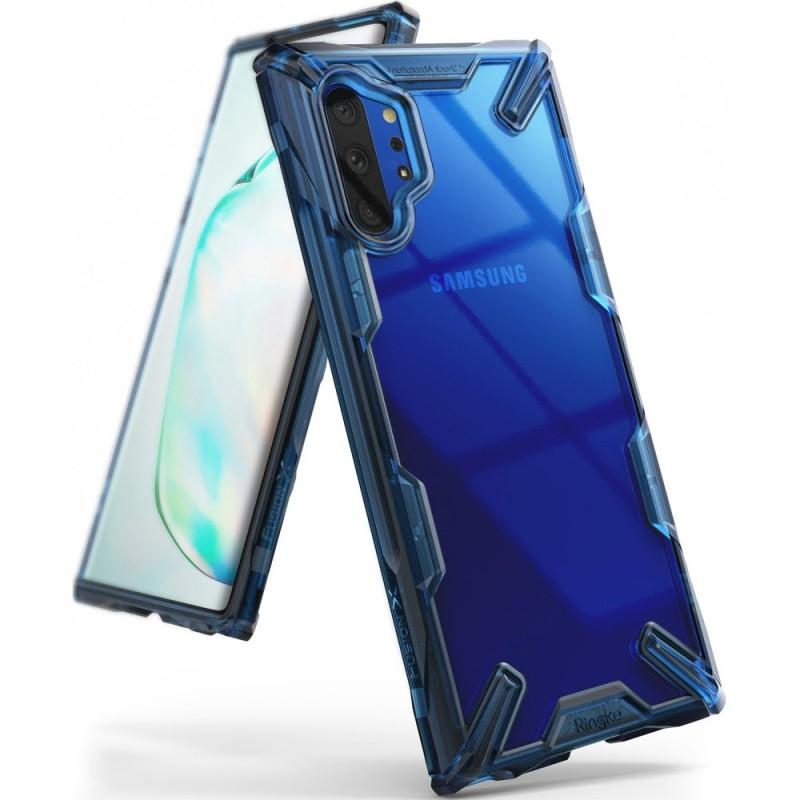 Husa pentru Samsung Galaxy Note 10 Plus, Ringke Fusion X, Albastra