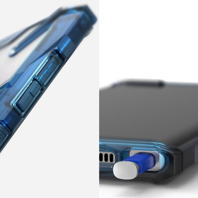 Husa pentru Samsung Galaxy Note 10 Plus, Ringke Fusion X, Albastra - 2