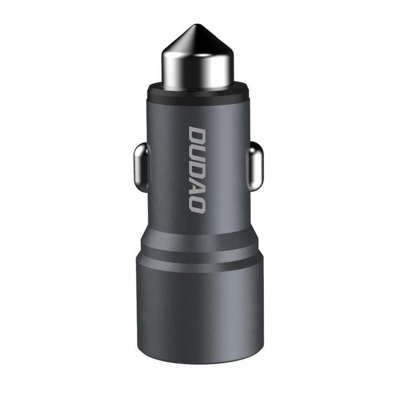 Incarcator Auto Dudao R5 Universal 2x USB 3.1A, Gri - 2