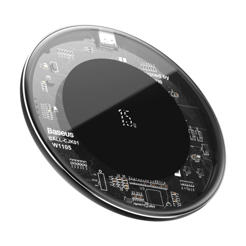 Incarcator Wireless Universal Inductie Baseus Wireless Simple 15W, Transparent