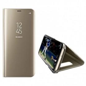 Husa Telefon Samsung Galaxy A12 - Flip Mirror Stand Clear View  - 4
